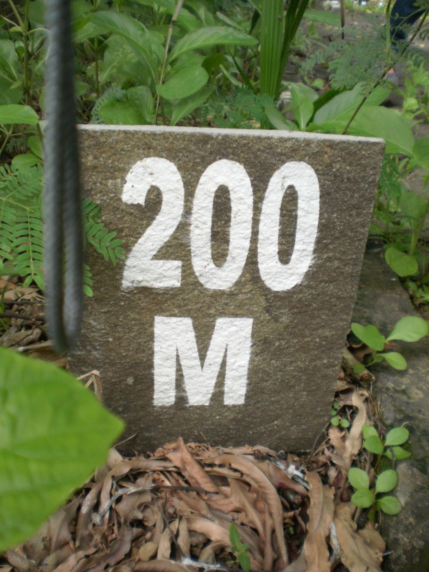 Aku sampai di 200 meter... :)