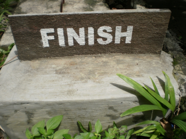 I'm finish...ready to home...